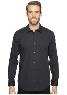 Calvin Klein Long Sleeve Infinite Cool Button Down Stripe Shirt