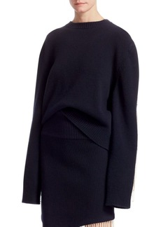 Calvin Klein Long-Sleeve Knit Fringe Sweater