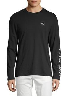 Calvin Klein Long-Sleeve Logo Tee
