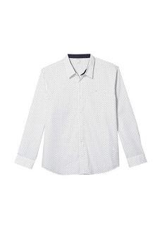 Calvin Klein Long Sleeve Poplin Wrinkle Resistant Casual Button-Up Shirt