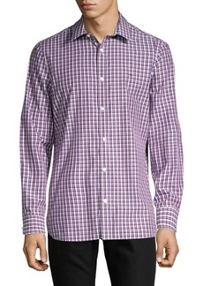 Calvin Klein Long-Sleeve Printed Classic-Fit Shirt