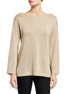 Calvin Klein Long Sleeve Shoulder Button Sweater