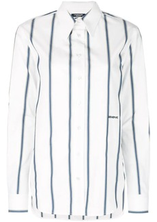 Calvin Klein longline striped shirt