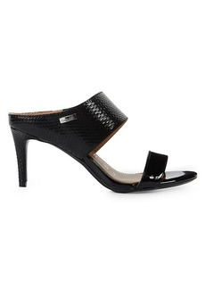 Calvin Klein Lorinda Croc-Embossed Mules