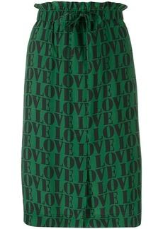 Calvin Klein love slogan print skirt