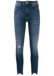 Calvin Klein love worn jeans