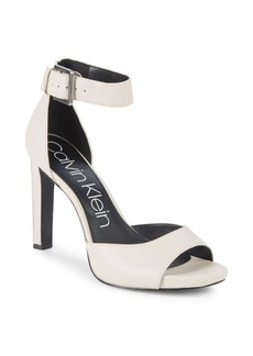 Calvin Klein Marinda Ankle-Strap Leather Dress Sandals