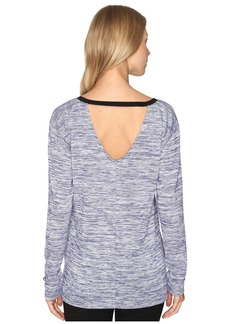 Calvin Klein Marl Long Sleeve V-Back Tee