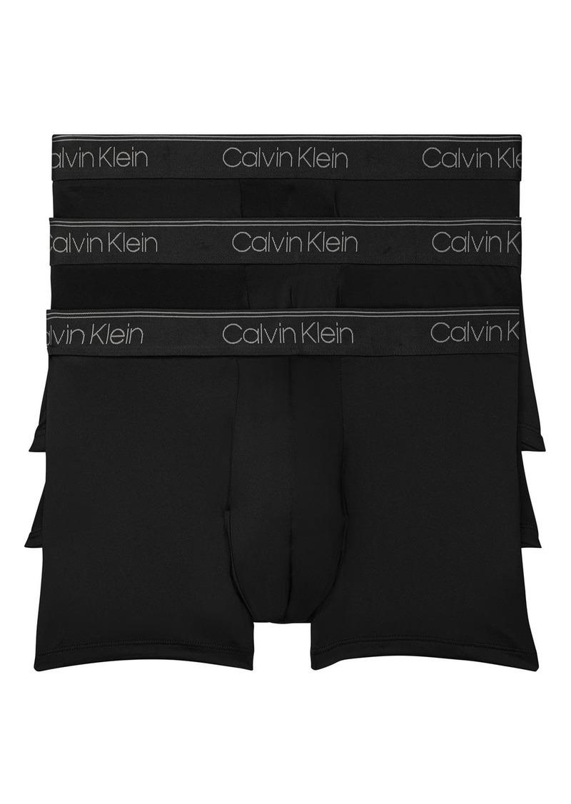 Men's Calvin Klein 3-Pack Low Rise Microfiber Trunks