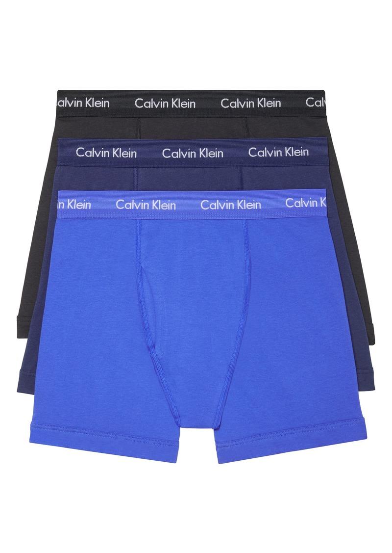 Men's Calvin Klein 3-Pack Moisture Wicking Stretch Cotton Boxer Briefs