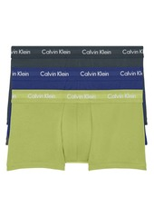 Men's Calvin Klein 3-Pack Moisture Wicking Stretch Cotton Trunks