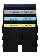 Men's Calvin Klein Assorted 4-Pack Chromatic Micro Stretch Performance Boxer Briefs