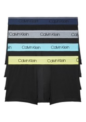 Men's Calvin Klein Assorted 4-Pack Chromatic Micro Stretch Performance Trunks