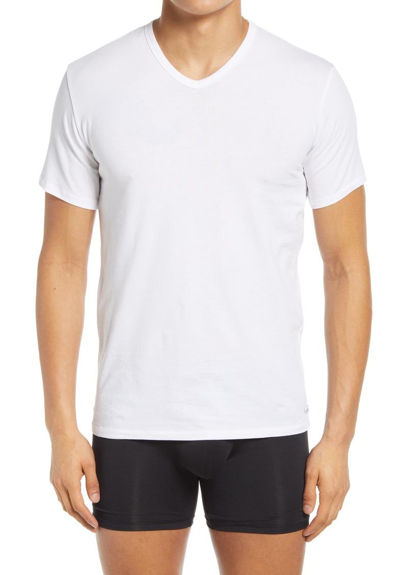 Calvin Klein Men's 3-Pack Stretch Cotton V-Neck T-Shirts