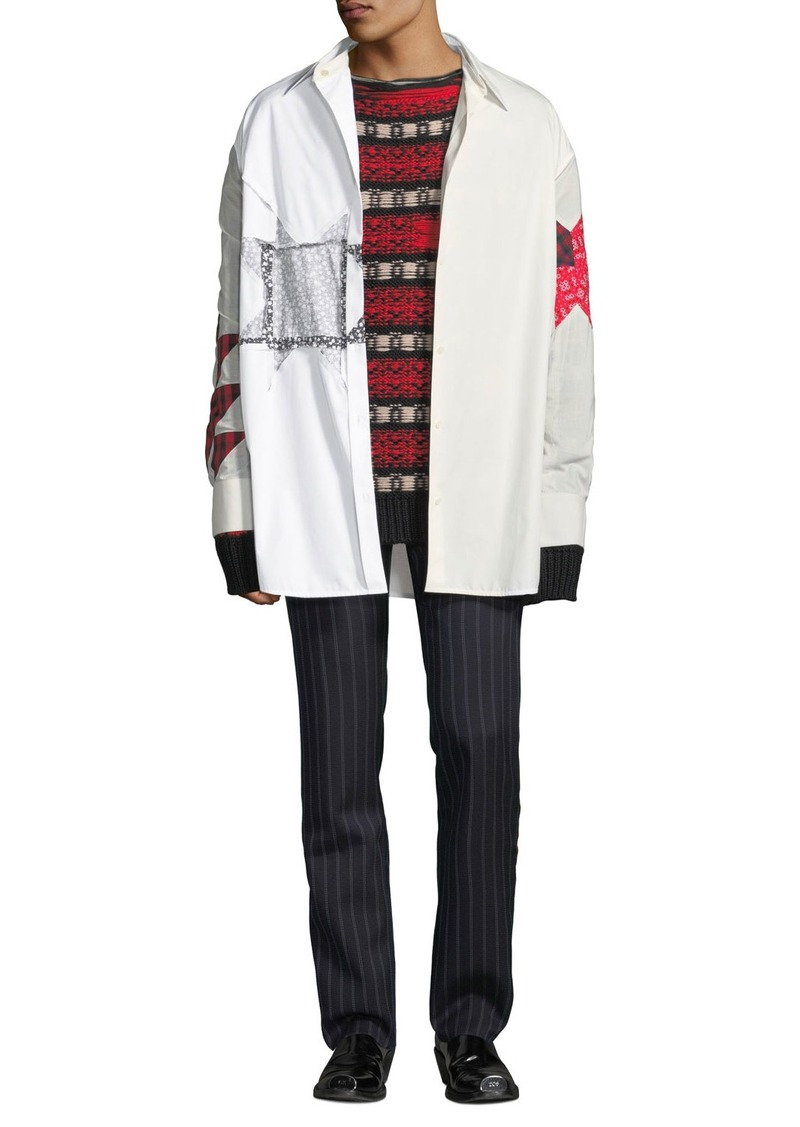 Calvin Klein Men's Extra Light Plain-Weave Shirt