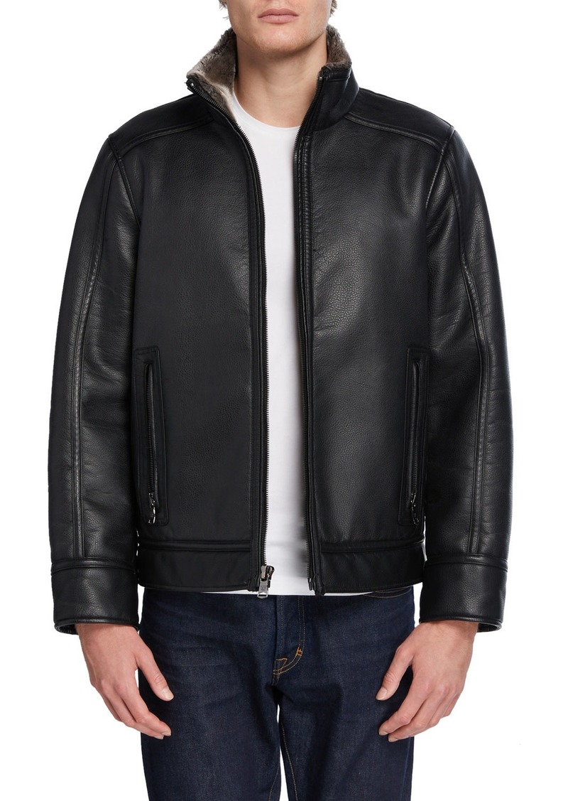 Calvin Klein Men's Faux Fur Jacket