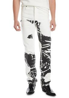 Calvin Klein Men's Graphic Straight-Leg Jeans