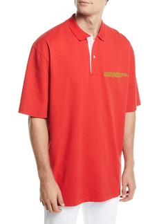 Calvin Klein Men's Oversized Polo Shirt with Embroidered Logo