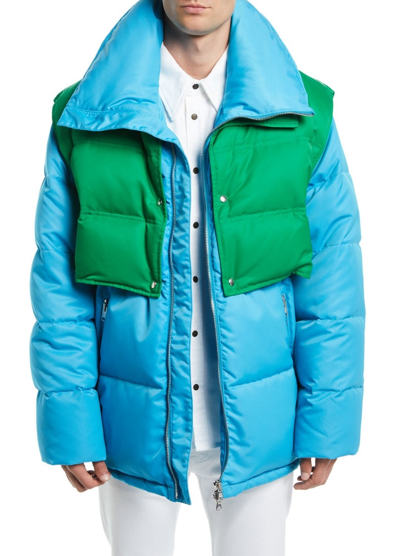 Calvin Klein Men's Puffer Coat with Removable Vest