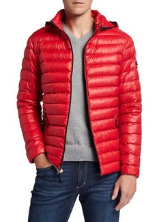 Calvin Klein Men's Quilted Hooded Packable Puffer Jacket
