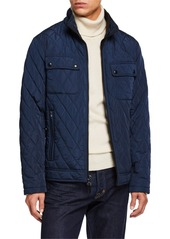 Calvin Klein Men's Quilted Zip-Front Jacket