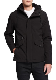 Calvin Klein Men's Sherpa-Lined Soft Shell Coat