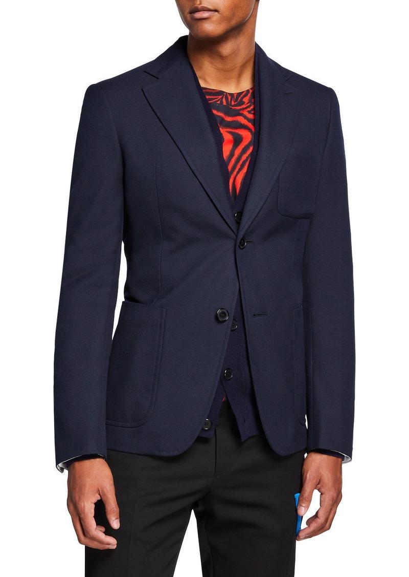 Calvin Klein Men's Solid Schoolboy Blazer