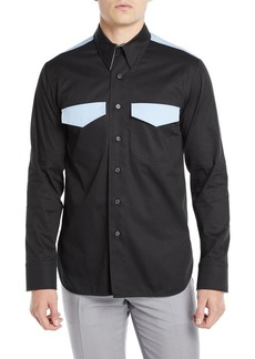 Calvin Klein Men's Two-Tone Wool Western Shirt