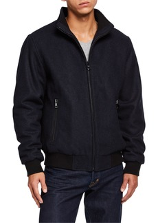 Calvin Klein Men's Wool Bomber Jacket