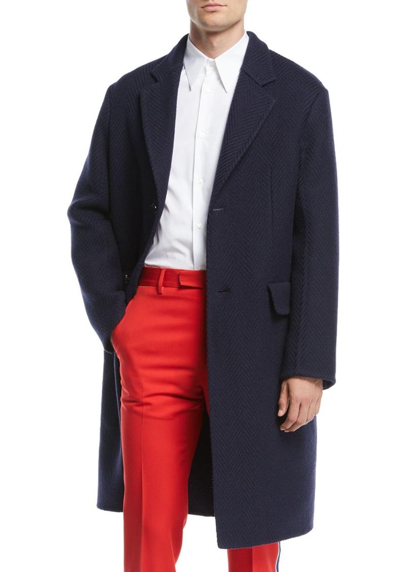 Calvin Klein Men's Wool Herringbone Coat