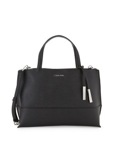 Calvin Klein Mercury Structured Leather Satchel