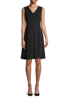 Calvin Klein Mesh-Back A-Line Dress