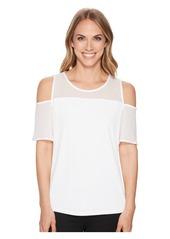 Calvin Klein Mesh Short Sleeve Cold Shoulder