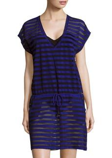 Calvin Klein Cruise Striped Mesh Tunic