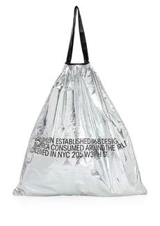 Calvin Klein Metallic Oversized Drawstring Bag