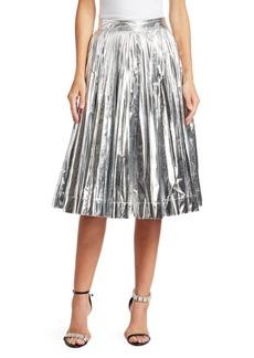 Calvin Klein Metallic Pleated A-Line Skirt