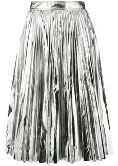 Calvin Klein metallic pleated skirt