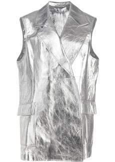 Calvin Klein metallic sleeveless jacket