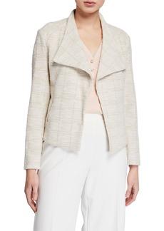 Calvin Klein Metallic Tweed Flyaway Jacket