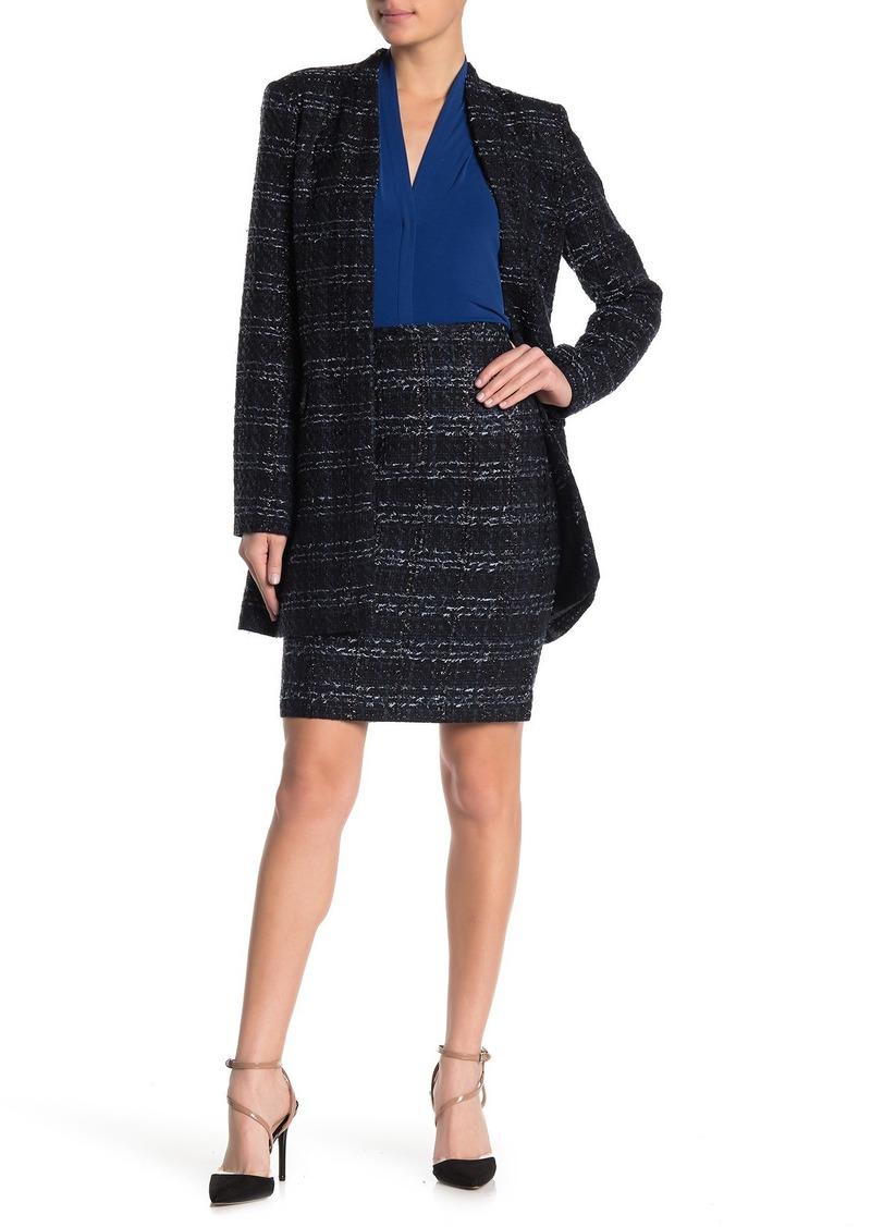 Calvin Klein Metallic Tweed Skirt