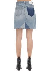 Calvin Klein Mid-rise Cotton Denim Mini Skirt