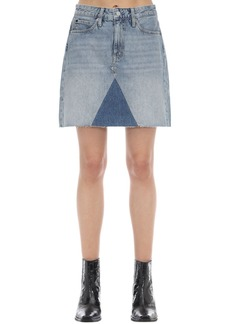 Calvin Klein Mid-rise Cotton Denim Mini Skirt