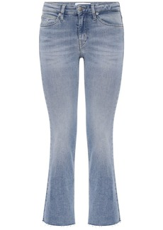 Calvin Klein Mid Rise Cropped Flared Jeans