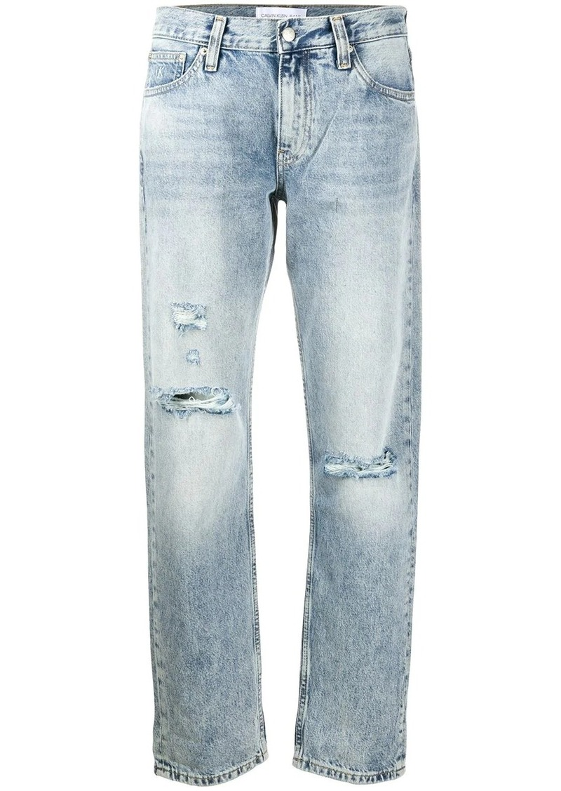 Calvin Klein mid-rise straight jeans