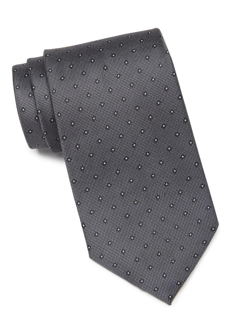 Calvin Klein Mini Oxford Square Silk Tie