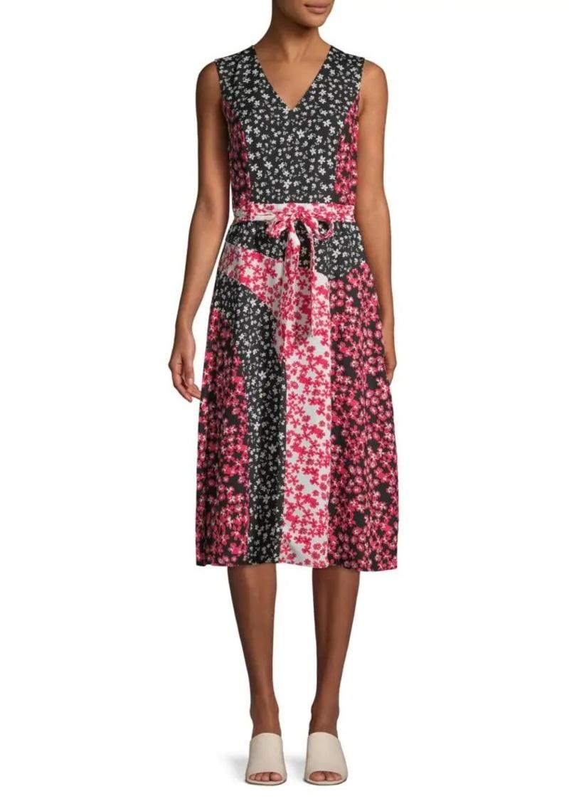 Calvin Klein Mixed Floral Knee-Length Dress