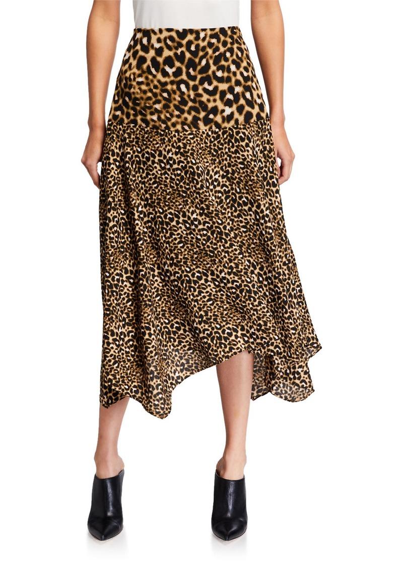 Calvin Klein Mixed-Print Asymmetric Skirt