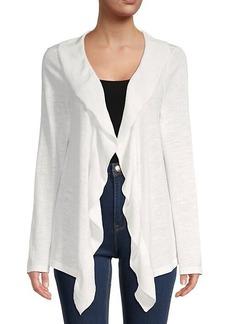 Calvin Klein Mixed Stitch Cotton & Linen Cardigan
