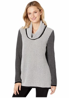 Calvin Klein Mixed Stitch Sweater with Cowl Neckline