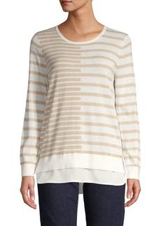 Calvin Klein Mixed Stripe Twofer Sweater